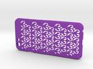 Fleur-de-lis iPhone6/6S case in Purple Strong & Flexible Polished