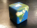 Cube Planet : Earth, 1 inch