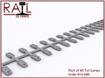 N Scale Tail Lamps - Sprue of 60