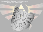 Zelda hylian crest ring (med/adjustable)