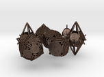 Swords and Shields D&D Dice set with Decader