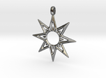 STAR OF VENUS Jewelry Symbol Pendant.
