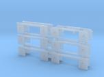 1/87th set of 12 truck mudflap light bars