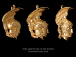 Ares, god of war, pendant