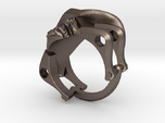Silver Cowboy Skull Ring