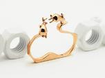Nº02 Double Rabbit Ring (multiple sizes)