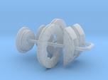 1/24 Modern 11.6 Inch Diam 6 Piston Disk Brake Set