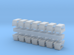 1:96 scale Standard Chock Sets - set of 12