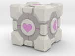 Weighted Portal Cube (In Color) - Heart 1""