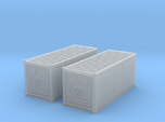 N Scale Refrigerated Container 20ft (2pc)