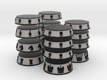 Chess Bases Black over Grey - 1 inch