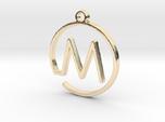 M Monogram Pendant
