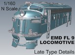 1-160 EMD FL 9 LATE Locomotive