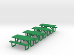 Picnic Table 6ft Metal Ftame - HO 87:1 Scale Qty (