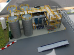 N Scale Chemical Storage Installation