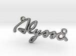 ALYSSA Script First Name Pendant