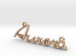 AURORA Script First Name Pendant