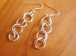 Rain Chain - Precious Metal Earrings