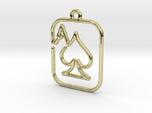 The ace of spades continuous line pendant