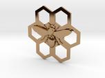 Bee Hive Honey Comb Charm Necklace Pendant