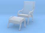 Danish Bentwood Chair w/ Ottoman