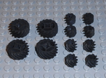 LEGO®-compatible helical gears