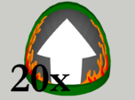 20 Shoulder Pads Arrow with Flames