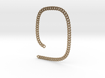 Curb chain necklace 21 inch 8 mm