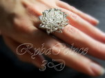 Ring the Chrysanthemum / size 6 US (16,5 mm)