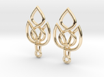 Celtic Knot Leaf Earrings