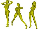 1/24 scale sexy girl figures x 3 pack A