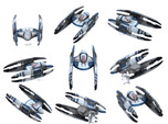 Vulture Droid Squad 9-pack  1/270