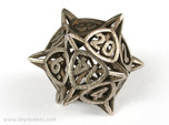 'Center Arc' dice, D20 balanced gaming die