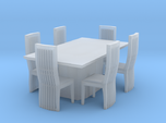 Marble Style Table And Chairs Scaled