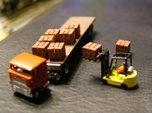 Pallets with Boxes - Set of 9 - Zscale