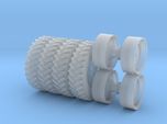 1/64 Scale 42 Inch Rear Wheel and Tire Set