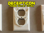 Decepticon Symbol Power Outlet Plate