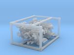 4 X 1/144 IJN Type 96 25mm Triple Mount
