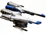 Toth Starfighter: 1/270 scale