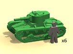 6mm T-26 WW2 Soviet tanks (6)