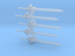 Lys-pattern Energy Sword x5