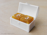 Double MTG Treasure Chest Token (16 mm dice chest)