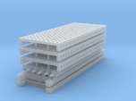 1/64 3 High 10ft Pallet Racking with mesh