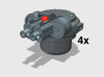 4x Twin Rapfire Hatch Turret (Troop Tank)