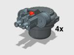 4x Twin Rapfire Hatch Turret (Troop Tank)