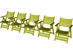 1/35 scale wooden chairs set B x 5