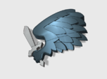 60x Black Wing : Shoulder Insignia pack