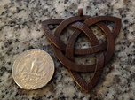Large Celtic Knot Pendant (Inverted Triquetra)