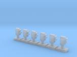 Dwarf 2 Light Std 160:1 N Scale (Qty 6)