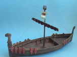 Medieval Russian Warship, with shields and open ca